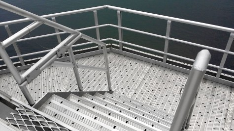 Quicklock handrail on stair for COSL HYSY943 project
