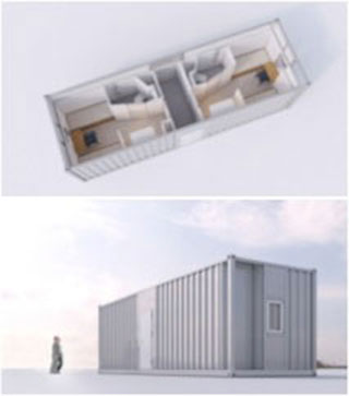 Artist's Impression Of How The Type 5-A Aluminium Living Quarter Module Looks Like.