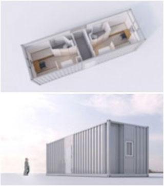 Artist's Impression Of How The Type 5-A Aluminium Living Quarter Module Looks Like.
