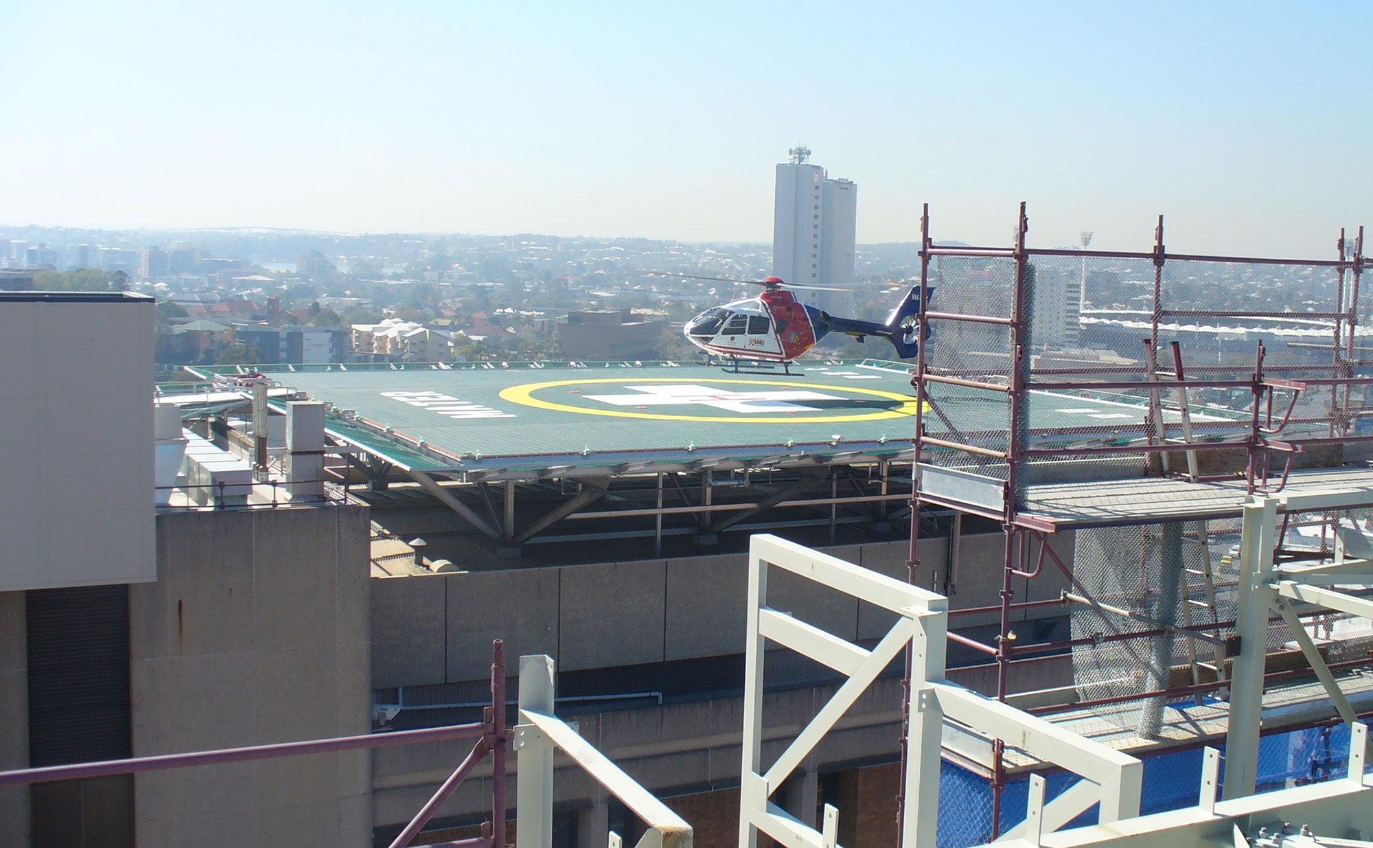 Mater Hospital Brisbane Astech Enhanced Safety Helideck 27.5m