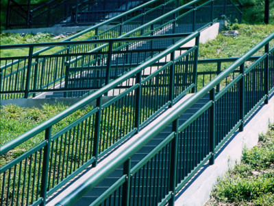 Continuous Run Of Handrails Installed At Stairs Area For Mount Faber