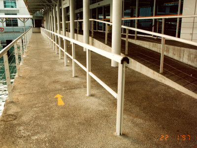 Marine Grade Aluminium Handrails Installed At PSA