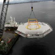 Transportation Of Helideck To Site By Crane Barge