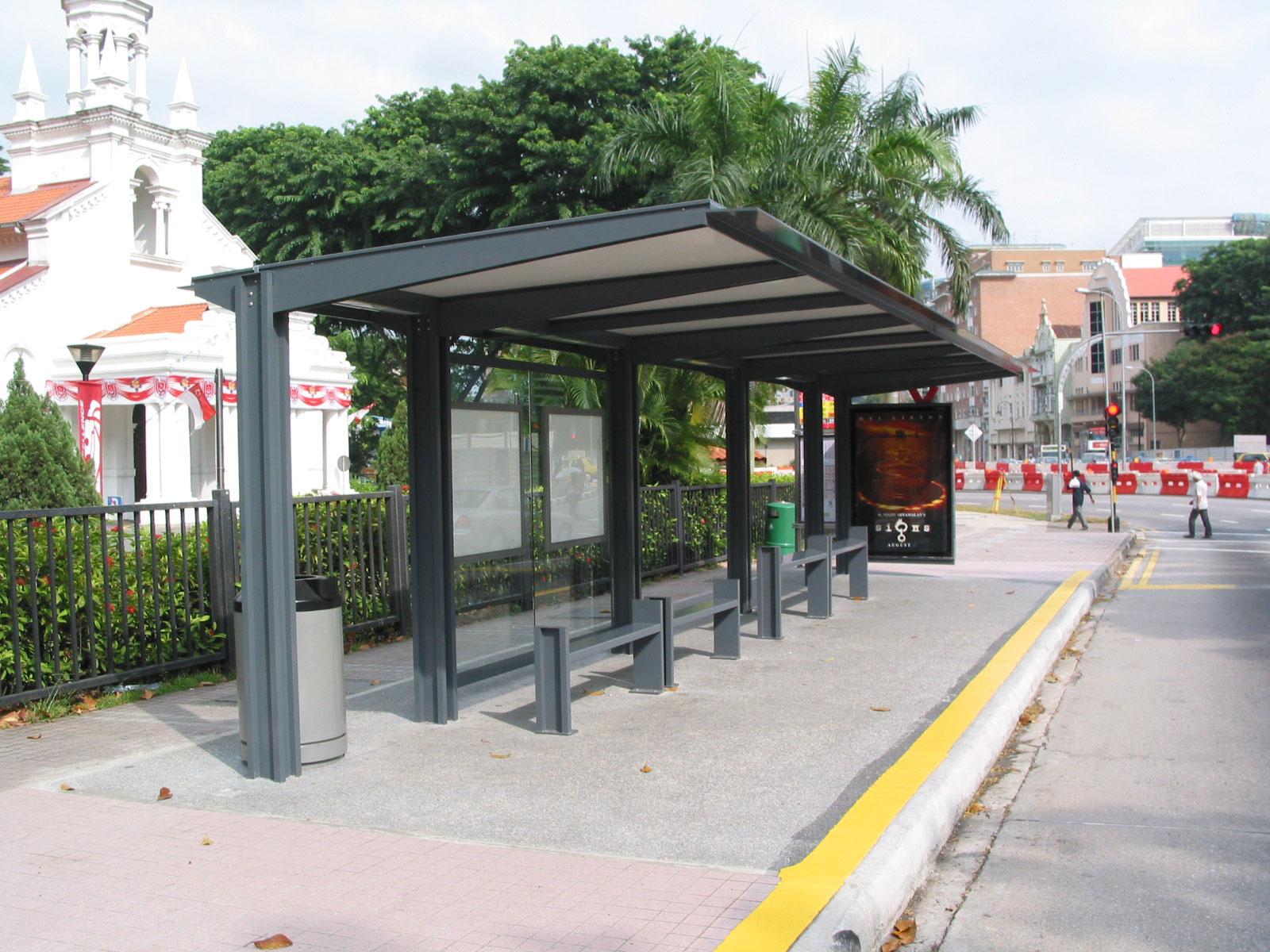 Prefabricated Bus Shelter : Street furniture aluminium offshore