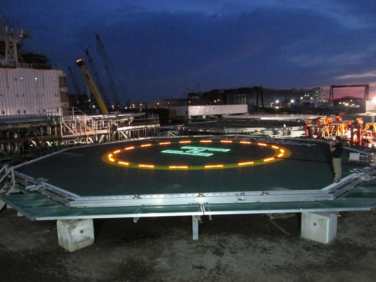 Aluminium Offshore Installs 1st Touchdown/Position Marking Circle And H Lighting System