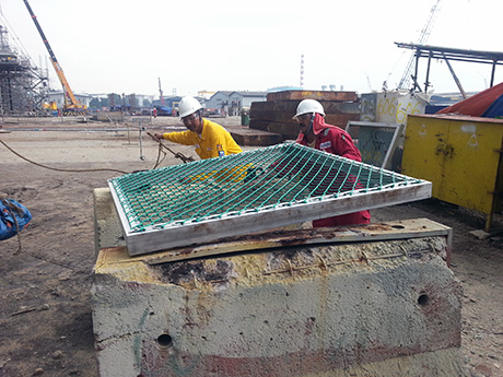 Placement Of Safety Net For Drop Load Test