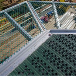 The Safety Net Frame And Net Are Constructed From Marine Grade High Strength Aluminium Alloy For Maintenance Free Life.