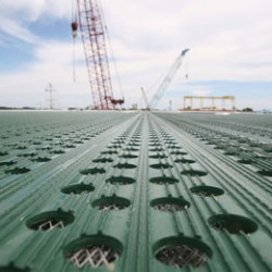The Surface Of Our XE Enhanced Safety Helideck. These Come In Various Punch Configurations To Suit Different Users.
