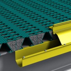 This Patented Helideck Incorporates A Hinged Gutter Cover Which Is Aerodynamically Designed To Deflect Rotor Downdraft Pressure.
